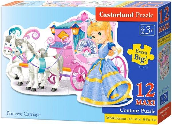 Puzzle 12 Maxi Castorland B-120017 Księżniczka - Princess Carriage