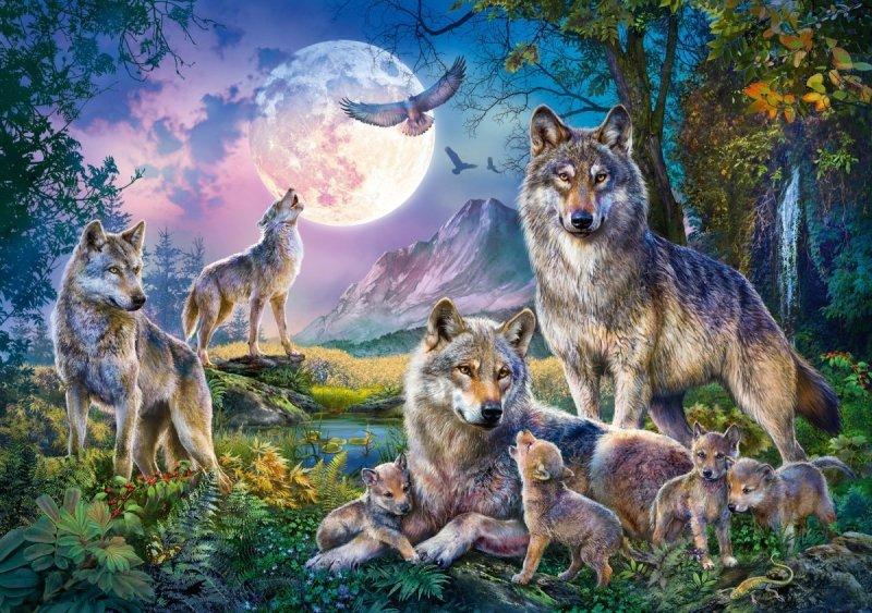 Puzzle 1500 Schmidt 58954 Rodzina Wilków