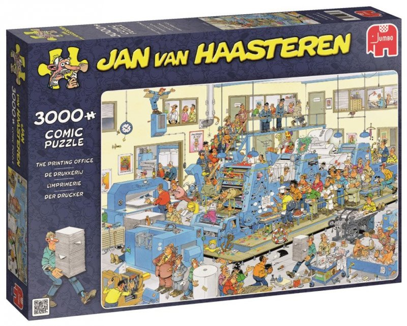Puzzle 3000 Jumbo 19038 Jan van Haasteren - Drukarnia