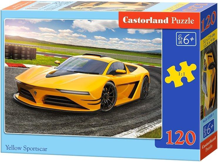 Puzzle 120 Castorland B-13500 Żółty Samochód Sportowy