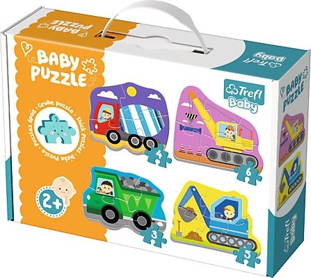 Puzzle Baby Classic Trefl T-36072 Pojazdy na Budowie
