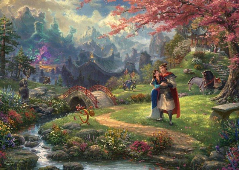 Puzzle 1000 Schmidt 59672 Thomas Kinkade - Mulan - Disney