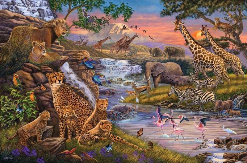 Puzzle 3000 Ravensburger 164653 Królestwo Zwierząt