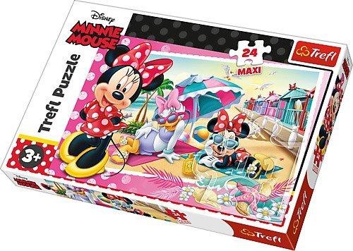 Puzzle 24 Maxi Trefl 14292 Wakacje Minnie Disney