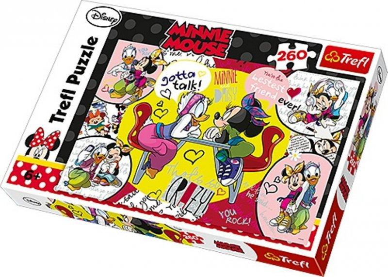 Puzzle 260 Trefl 13159 Najlepsze Przyjaciółki Myszka Minnie