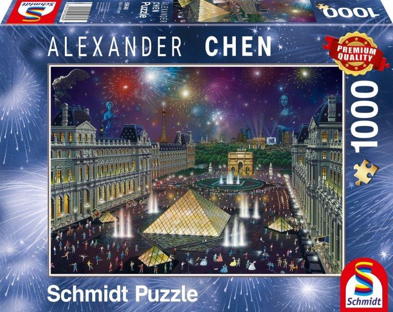 Puzzle 1000 Schmidt 59648 Alexander Chen - Fajerwerki nad Luwrem
