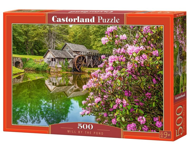 Puzzle 500 Castorland B-53490 Młyn nad Stawem