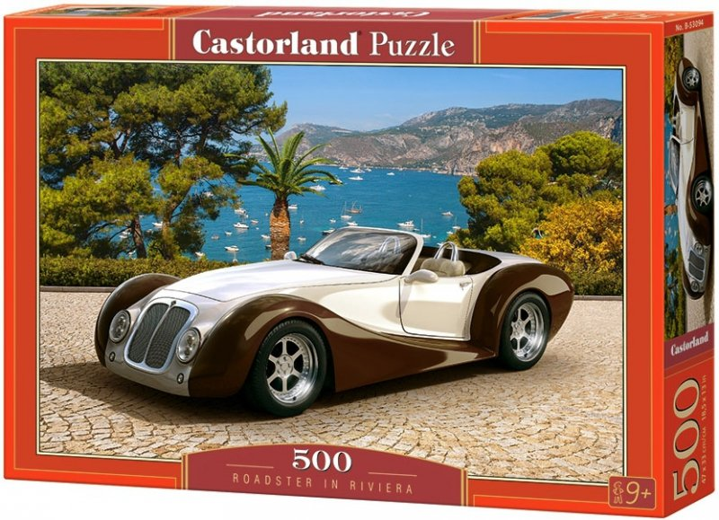 Puzzle 500 Castorland B-53094 Auto Białe - Roadster in Riviera