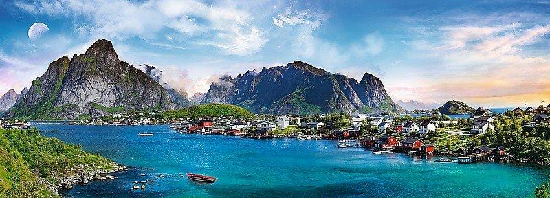 Puzzle 500 Trefl 29500 Panorama - Archipelag Lofoty - Norwegia