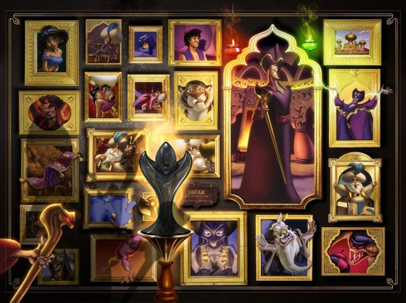 Puzzle 1000 Ravensburger 150236 Dżafar - Czarne Charaktery