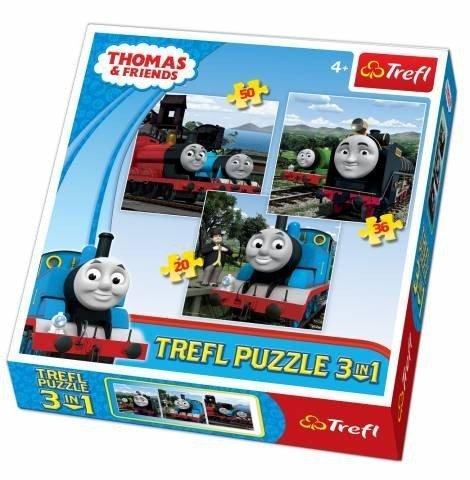 Puzzle 3w1 Trefl T-34083 Tomek - Razem Raźniej - Thomas&Fiends