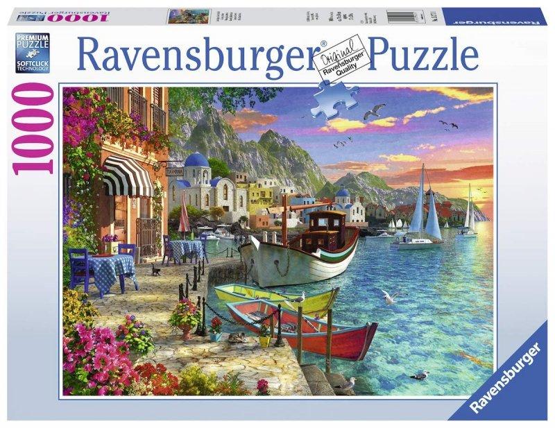 Puzzle 1000 Ravensburger 152711 Greckie Nabrzeże