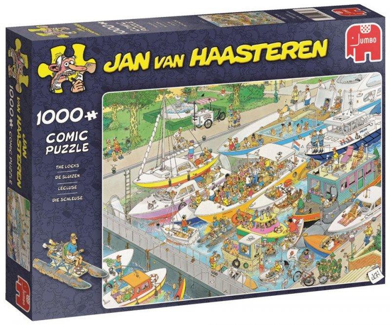 Puzzle 1000 Jumbo 19067 Jan Van Haasteren - Śluza Wodna