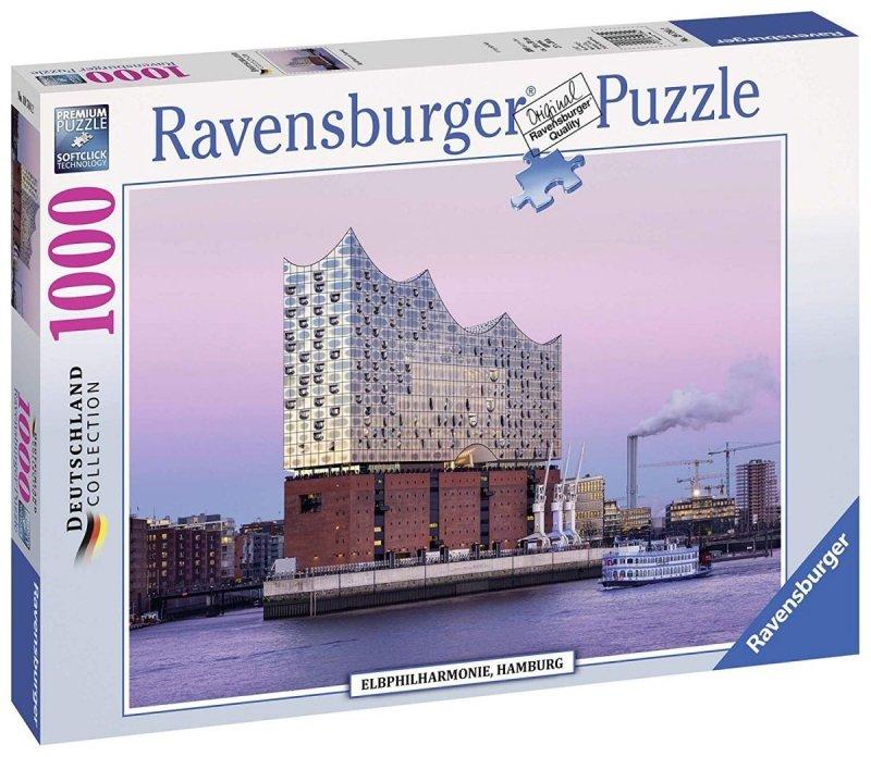 Puzzle 1000 Ravensburger 197842 Hamburg - Filharmonia