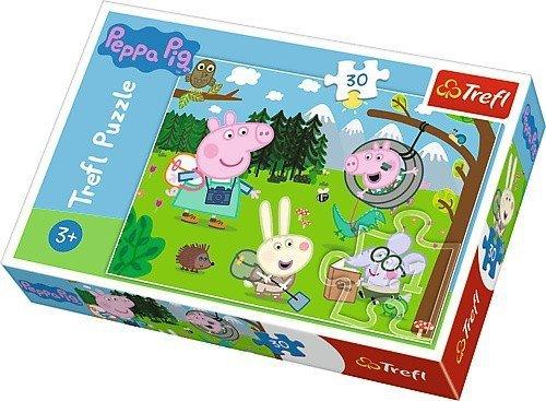 Puzzle 30 Trefl 18245 Świnka Peppa - Leśna Wyprawa