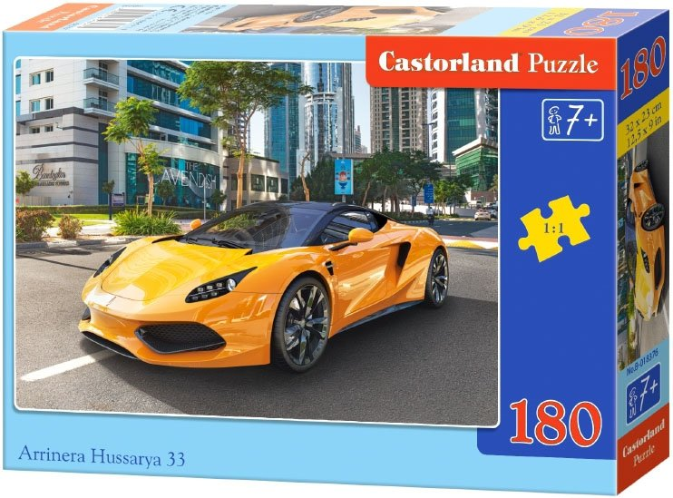 Puzzle 180 Castorland B-018376 Auto Żółte - Arrinera Hussarya 33