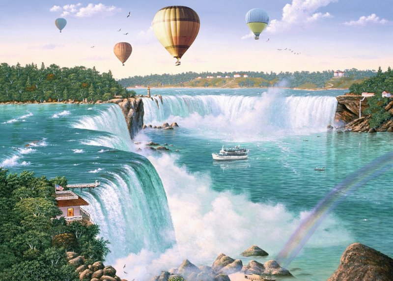 Puzzle 1000 Ravensburger 198719 Wodospad Niagara