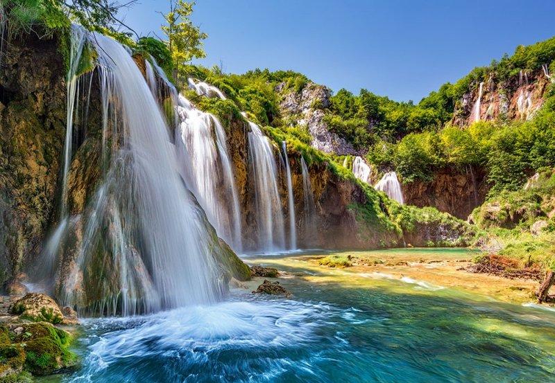 Puzzle 1000 Castorland 104185 Wodospad - Kraina Spadających Jezior