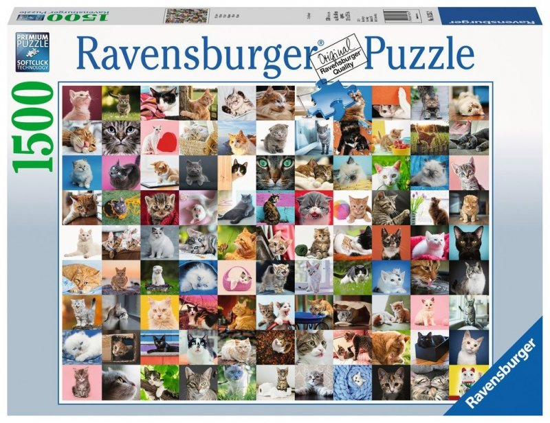 Puzzle 1500 Ravensburger 162352 Koty - Kolaż