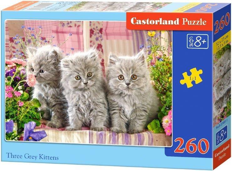 Puzzle 260 Castorland B-27491 Trzy Szare Kotki