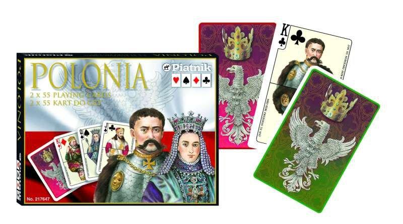 Karty do Gry Lux Piatnik 2 Talie 2176 Polonia
