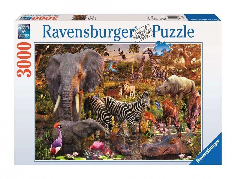 Puzzle 3000 Ravensburger 170371 Afrykańskie Zwierzęta