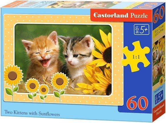 Puzzle 60 Castorland B-06779 Dwa Kotki