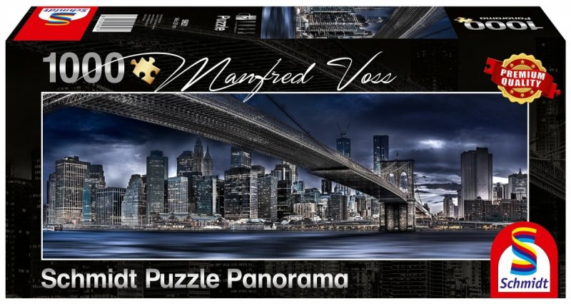 Puzzle 1000 Schmidt 59621 Manfred Voss - Most Rialto - New York - Panorama