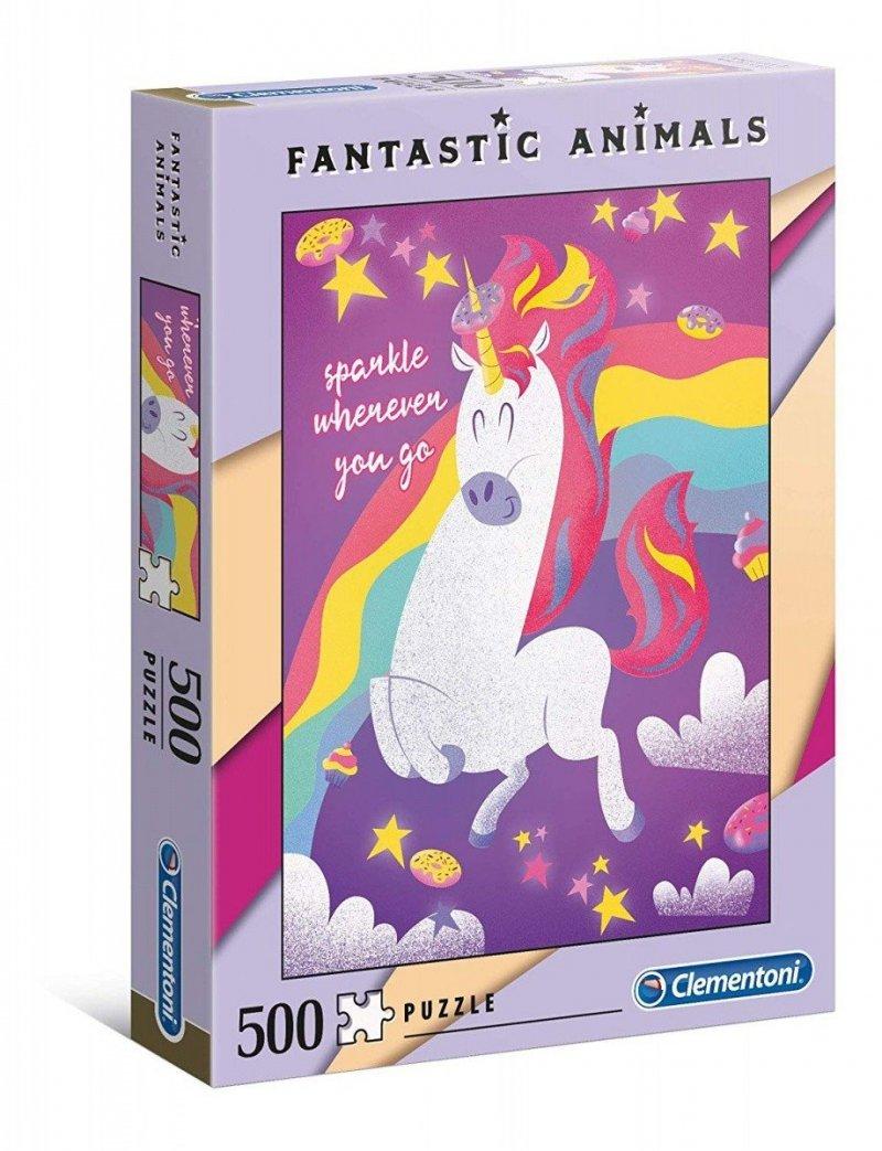 Puzzle 500 Clementoni 35066 Fantastic Animals - Jednorożec