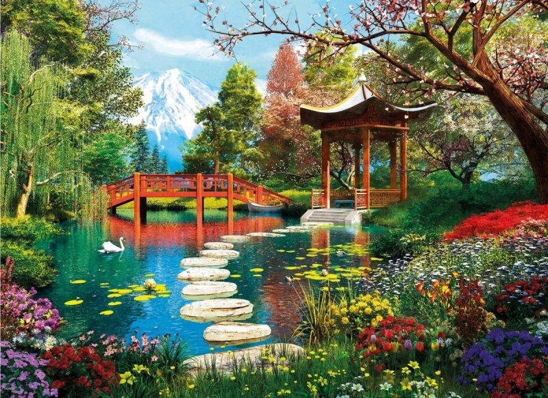 Puzzle 1000 Clementoni 39513 Ogrody Fuji