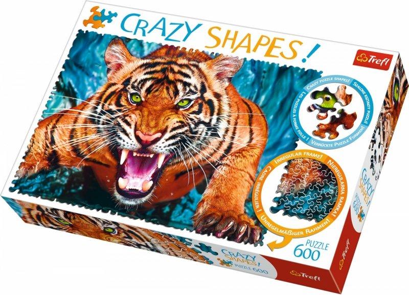Puzzle 600 Trefl 11111 Crazy Shapes - Galop Wśród Fal