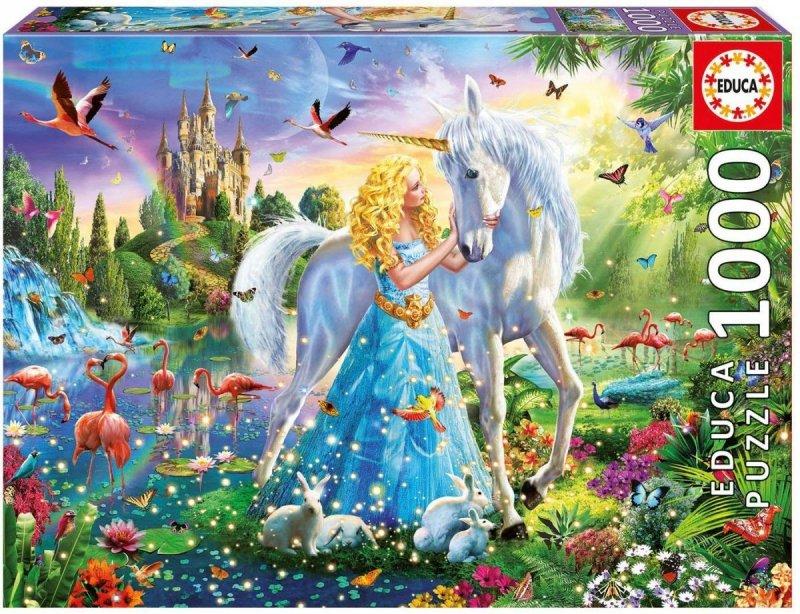 Puzzle 1000 Educa 17654 Księżniczka i Jednorożec