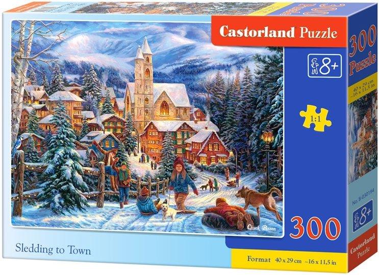 Puzzle 300 Castorland B-030194 Na Sankach do Miasta
