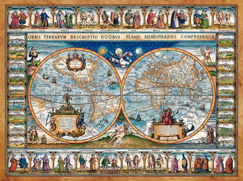 Puzzle 2000 Castorland C-200733 Mapa Świata - 1639
