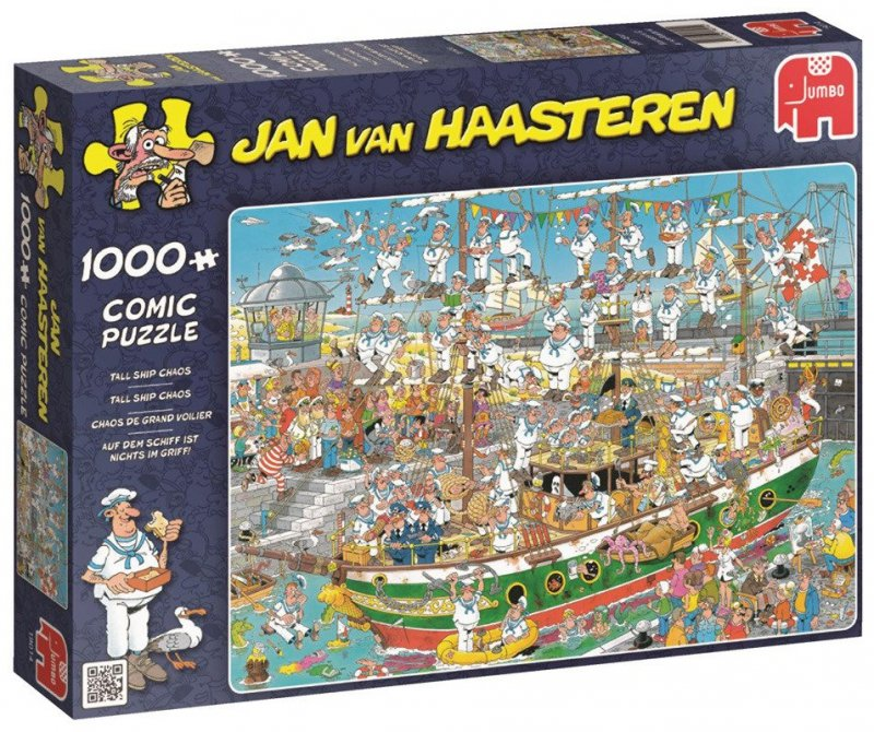 Puzzle 1000 Jumbo 19014 Jan van Haasteren - Chaos na Łodzi