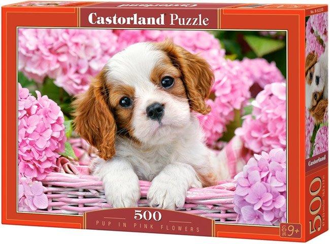 Puzzle 500 Castorland B-52233 Piesek w Koszyku