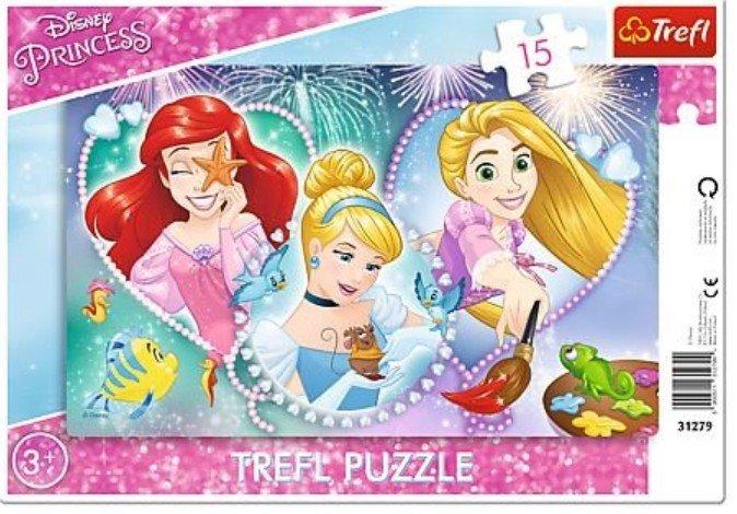 Puzzle Ramkowe 15 Trefl 31279 Księżniczki