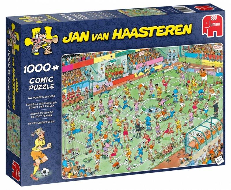 Puzzle 1000 Jumbo 19091 Jan Van Haasteren - Mistrzostwa Świata Kobiet w Piłce Nożnej