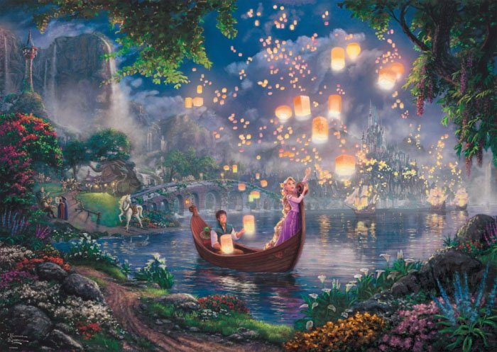 Puzzle 1000 Schmidt 59480 Thomas Kinkade - Raszpunka - Disney