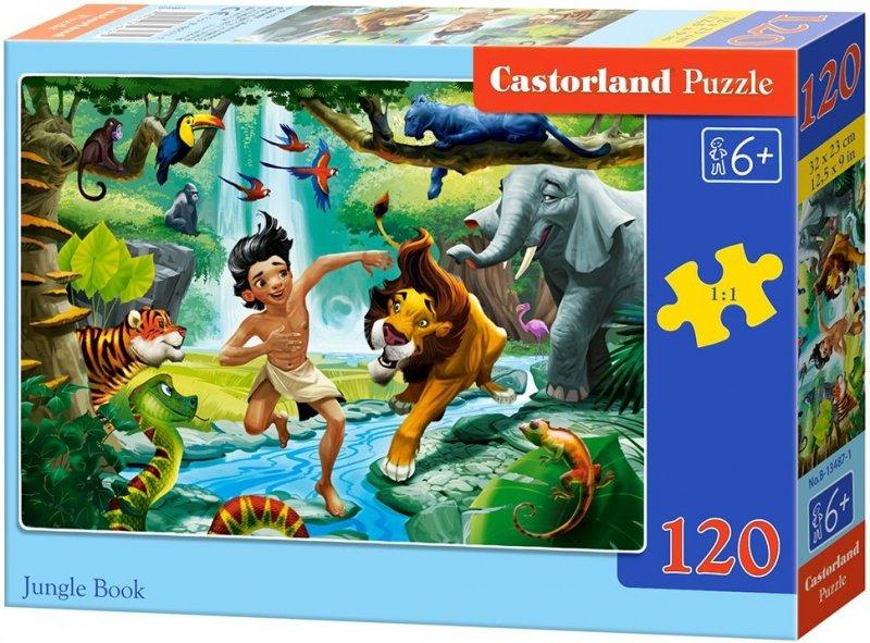 Puzzle 120 Castorland B-13487 Księga Dżungli