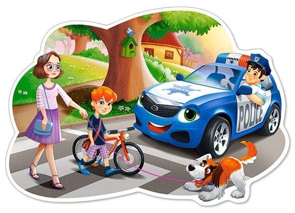 Puzzle 12 Maxi Castorland B-120215 Policjant w Pracy
