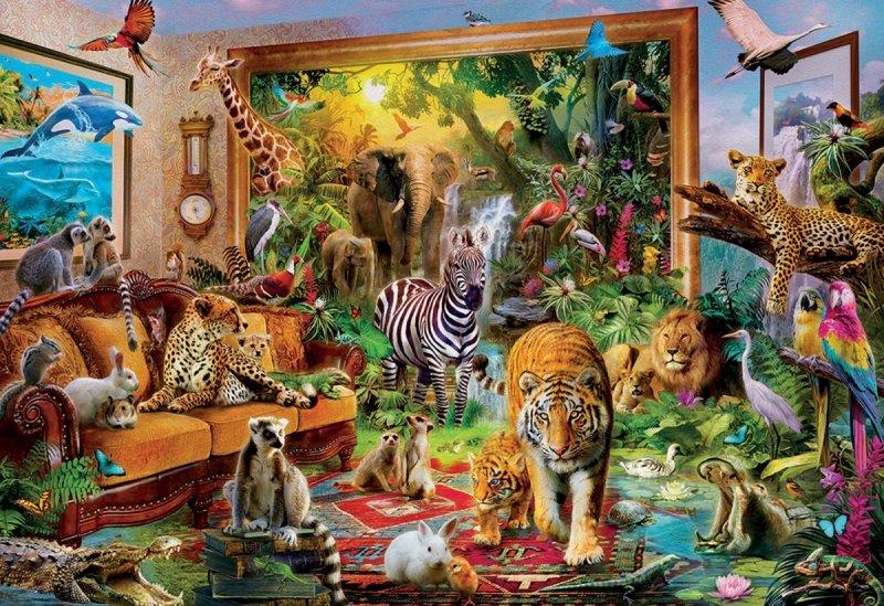 Puzzle 6000 Educa 17679 Patrik Krasny - Zwierzęta w Sypialni