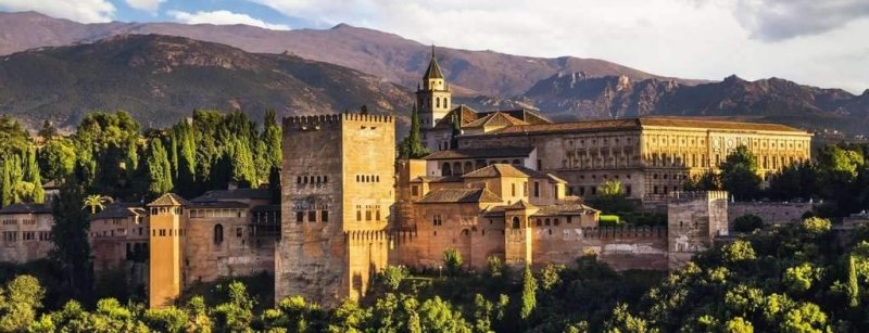 Puzzle 1000 Ravensburger 150731 Warownia Alhambra - Panorama