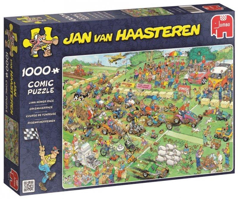 Puzzle 1000 Jumbo 19021 Wyścig Kosiarek - Jan van Haasteren