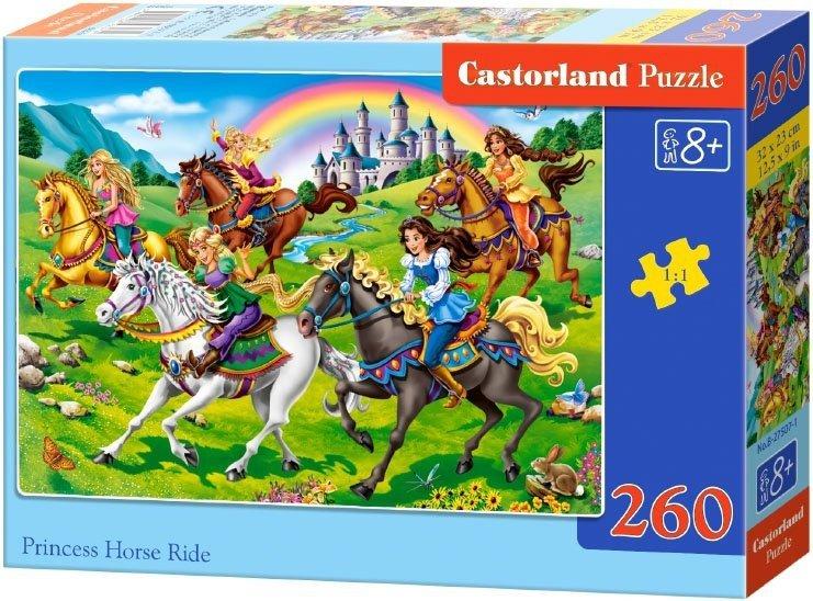 Puzzle 260 Castorland 27507 Księżniczki na Przejaźdźce Konnej