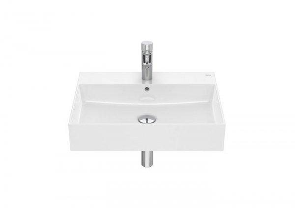 Inspira     Umywalka ścienna cienkościenna       Wymiary:      Szerokość: 600 mm.      Głębokość: 490 mm.      Wysokość: 120 mm.