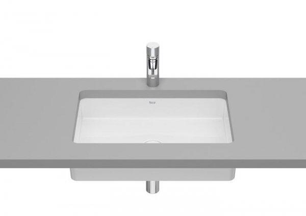 Inspira     Umywalka podblatowa Square FINECERAMIC®       Wymiary:      Szerokość: 605 mm.      Głębokość: 390 mm.      Wysokość: 138 mm.