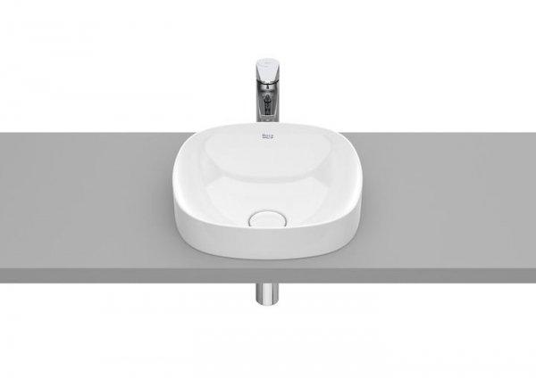 Inspira Umywalka blatowa cienkościenna Soft  Wymiary:  Szerokość: 370 mm.  Głębokość: 370 mm.  Wysokość: 75 mm