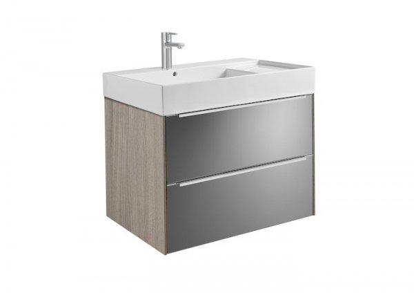 Inspira     Zestaw łazienkowy Unik z 2 szufladami       Cena netto 3800 zł      Wymiary:      Szerokość: 800 mm.      Głębokość: 498 mm.      Wysokość: 674 mm