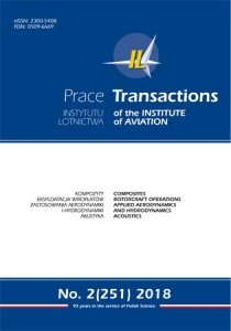 Transactions of the Institute of Aviation (Prace Instytutu Lotnictwa) 251 (2/2018)